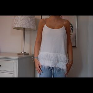 Sugar + Lips White Feather Cami